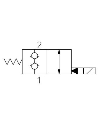 2-vägsventiler Dubbeltätad N/C