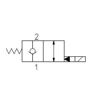 2-vägsventiler Fritt returflöde N/C