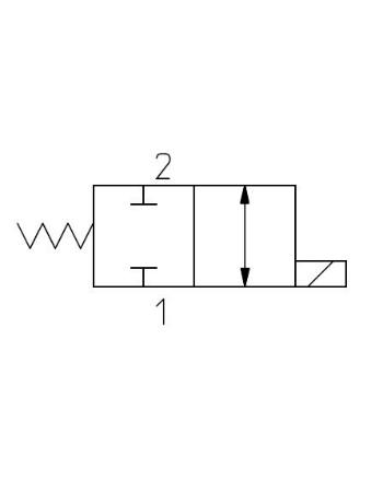2-vägsventiler Slidtyp N/C